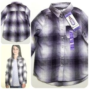 Other - Purple plaid flannel shirt